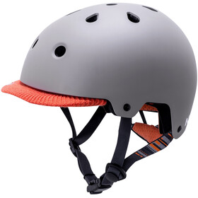 Kali Saha Helm matt hellgrau/orange